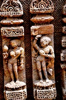 Statues of sun temple , Konarak , Orissa , India