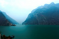 Scenery of the Yangtze river three gorges nature reserve
