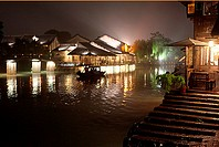 Night view of Wu town, Zhejiang province, China