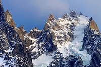 North face of the Aiguille du Plan, 3673 meters, Mont Blanc Massif, Alps, Chamonix, France