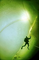 ice diving, Arctic, Russia, Russian north, Kareliya, White sea