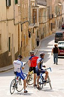 Cyclists Sencelles Mallorca Baleares Spain