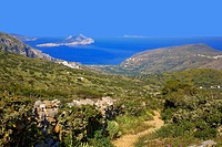 greece, cyclades, amorgos: Lagada and Egiali bay