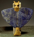 fine arts, ancient world, Sumerians, lion_headed eagle, lapis_lazuli, gold, bitumen and copper, Mari Tel Hariri, circa 2650 BC, National Museum, Damas...