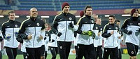 From left: Tomas Vaclik, Roman Bednar, Jiri Jarosik, Marek Cech of Sparta Prague pictured during training of their team in Prague, Czech Republic ahea...