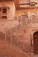 Beautiful steps in Junagarh fort , Bikaner , Rajasthan , India