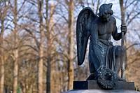 religion, Christianity, angel, tomb angel, Ostfriedhof East Cemetery, Munich, Bavaria, Germany,