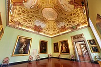 Room of The Bourbons of Naples, Spain and France  This room contains portraits of the Bourbon Dynasty  The Kings of Naples Royal Palace of Caserta, It...