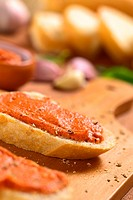 Tomato_Butter Spread on Baguette