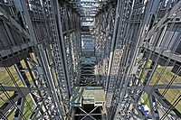Inside the Niederfinow boat lift in Brandenburg, Germany, Europe