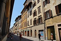 Street in Florence, Tuscany, Italy, Europe.