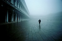 Venice  Italy  Early morning fog on St Mark's Square