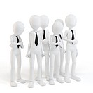 3d man businessman team