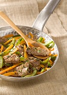 Beef,carrot and green pepper stir_fry