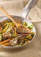 Beef,carrot and green pepper stir_fry