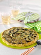 Zucchini and Kiri cream cheese tatin tart