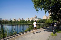 Central Park Reservoir Jogging Track 1.5 miles, Manhattan, New York