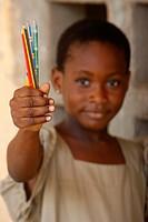 African schoolgirl, Togo.