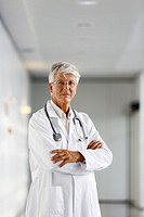 Doctor in corridor, Onkologikoa Hospital, Oncology Institute, Case Center for prevention, diagnosis and treatment of cancer, Donostia, San Sebastian, ...