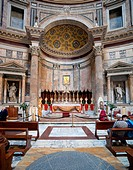 Altar in the Pantheon, Rome, Italy