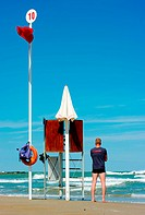 observation tower of a lifeguard, Adreatic Sea, Italy