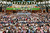 Germany, Bavaria, Munich, Oktoberfest, Typical Beer Tent Scene