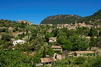 Balearic Islands, Majorca, Mallorca, Spain, Europe, outside, Valldemossa, Valldemosa, town view, day, nobody,