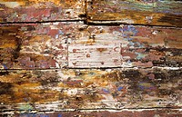 colorful boat hull still life