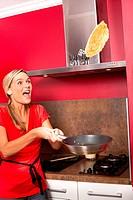 Woman pancakes