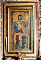 Blessing Redeemer enthroned, said Cristo di Sutri, tempera, cm 165 x 70