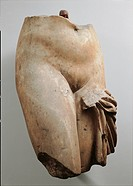 Torso of nude female figure, III Century, all round,