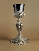 Glass Ponchiera, by Artista di scuola napoletana, 17th Century, 1692, silver cast,