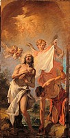 Baptism of Christ Battesimo di Cristo, by Sebastiano Ricci, 18th Century, oil on canvas
