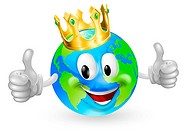 King of the World Mascot