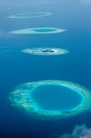 Aerial View of Thulhaagiri Island, North Male Atoll, Maldives