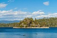 Fannette Island, Emerald Bay, Emerald Bay State Park, South Lake Tahoe, Lake Tahoe, California, USA