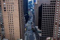 View of Times Square from skyscraper