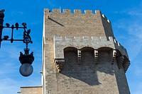 Torres de Serranos, part of the old city walls built in the 14th century, Valencia  Comunidad Valenciana, Spain