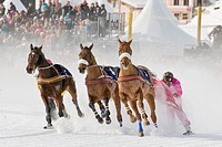 Switzerland, St  Moritz, White turf race