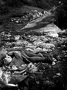 Austrian soldiers lying dead after losing their lives in the Battle of Vallone. Jamiano Doberdò del lago, 1916