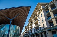 "Europe, France, Bouches-du-Rhone, Aix-en-Provence. """"Allées Provencale"""" shopping center in downtown."