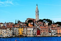 The City of Rovinj on Istria Peninsula in Croata Lit By Morning