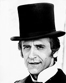 Italian actor Giulio Bosetti wearing a top hat in the TV mini-serie Malombra. Belgirate, 1974. Malombra, 1974, directed by Raffaele Meloni, ITA, TV mi...