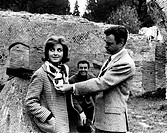 Italian brothers and actors Armando, Germana and Luciano Francioli visiting the excavations in Ostia Antica. Ostia Antica, June 1962.