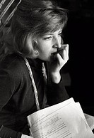 Portrait of the Italian actress Monica Vitti (Maria Luisa Ceciarelli). 1962.