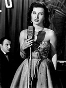 Italian actress Silvana Pampanini performing on the stage. 1950s.