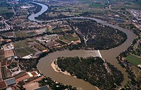 Aerial of Wentworth and Murray River New South Wales, Australia