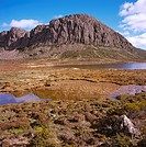West Wall across Lake Salome Walls of Jerusalem National Park, Tasmania, Australia