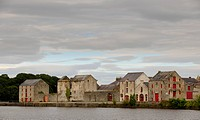 Old waterfront buildings in Rathmelton, County Donegal, Ireland