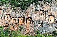 Lykische Felsengräber Dalyan Türkei soft, Lycian Rock Tombs Dalyan Turkey soft,